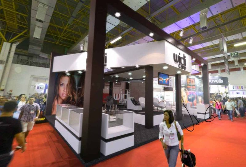 Projeto do stand da Widi Care na Beauty Fair