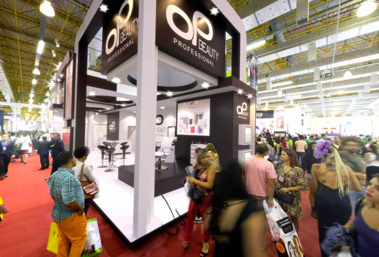 Projeto do Stand da Op Beauty na Beauty Fair