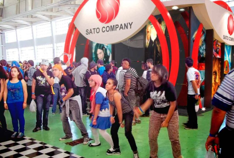 Projeto do stand da Sato Company na Anime Friends