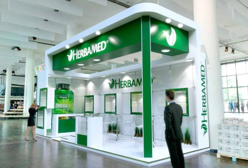 Projeto de estande da Herbamed na Natural Tech